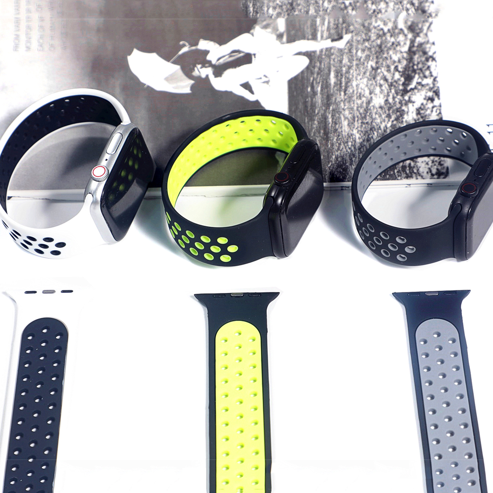 Solo Loop strap For Apple Watch Band 44mm 40mm 38mm 42mm Breathable silicone Elastic Belt bracelet band iWatch Series 3 4 5 SE 6 4