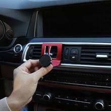 Para bmw F10 F11 F07 serie 5 10-16 de aluminio negro/rojo/azul titular del teléfono del coche de GPS del teléfono salidas de vuelo soporte accesorios del coche