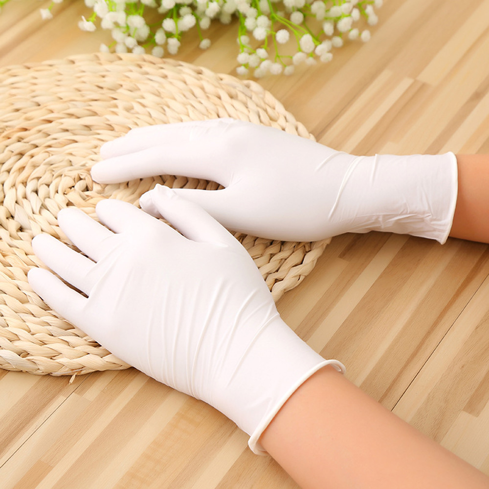 100 Pcs Disposable Nitrile Gloves For Child XS S Latex Doodle Work Rubber Garden Kitchen Diswashing Gloves Non-toxic Safe Useful