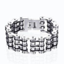 mens fashion punk rock bracelet man Jewelry stainless steel Jewellery bralet wide men accessories a gift to guy boy