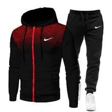 Men's sportswear mesh spot hooded 2021 new hot sale sportswear spring clothing streetwear hip-hop two-piece suit S-3XL
