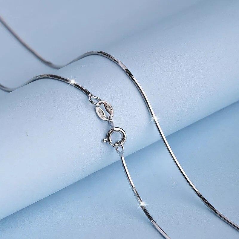 YANHUI Mit Zertifikat Silber 925 Schmuck Schlange Knochen Kette Halskette Frauen Zubehör Silber 925 Halskette Frauen Geschenk Schmuck