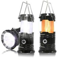 K-STAR Tragbare Taschenlampe Camping Outdoor Laterne Zelt LED Laterne Versenkbare Super Helle Notfall Taschenlampe