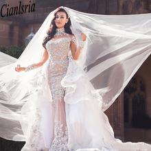 Роскошное Свадебное платье с кристаллами из горного хрусталя