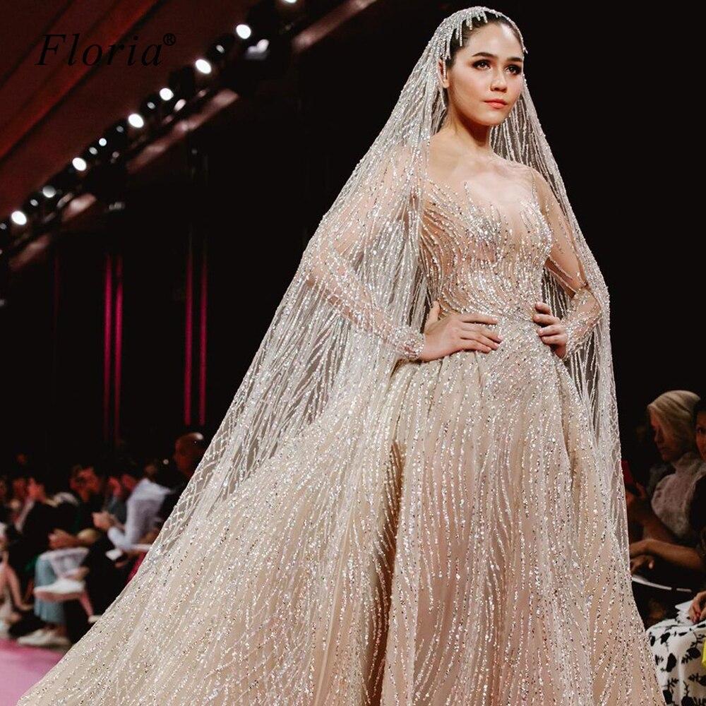 Luxus Transparent Hochzeit Kleid 16 Türkische Vestido De Noiva Erweiterte  Anpassung Brautkleider Kapelle Robe De Mariee