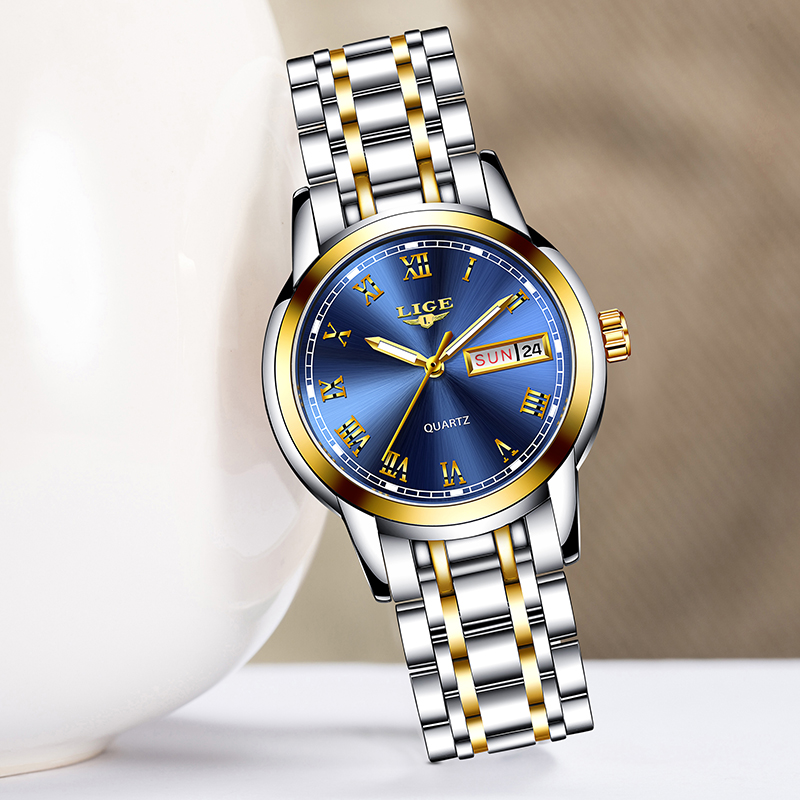 New LIGE Women Watch Luxury Brand Watch Simple Quartz Lady Waterproof Wristwatch Female Fashion Casual Watches Clock Reloj Mujer