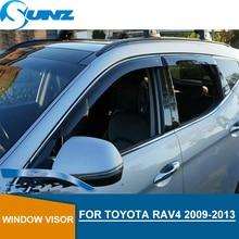 цена на Window deflector For Toyota rav4 2009-2013 Black Car door visor For Toyota rav4 2009 2010 2011 2012 2013 accessories SUNZ