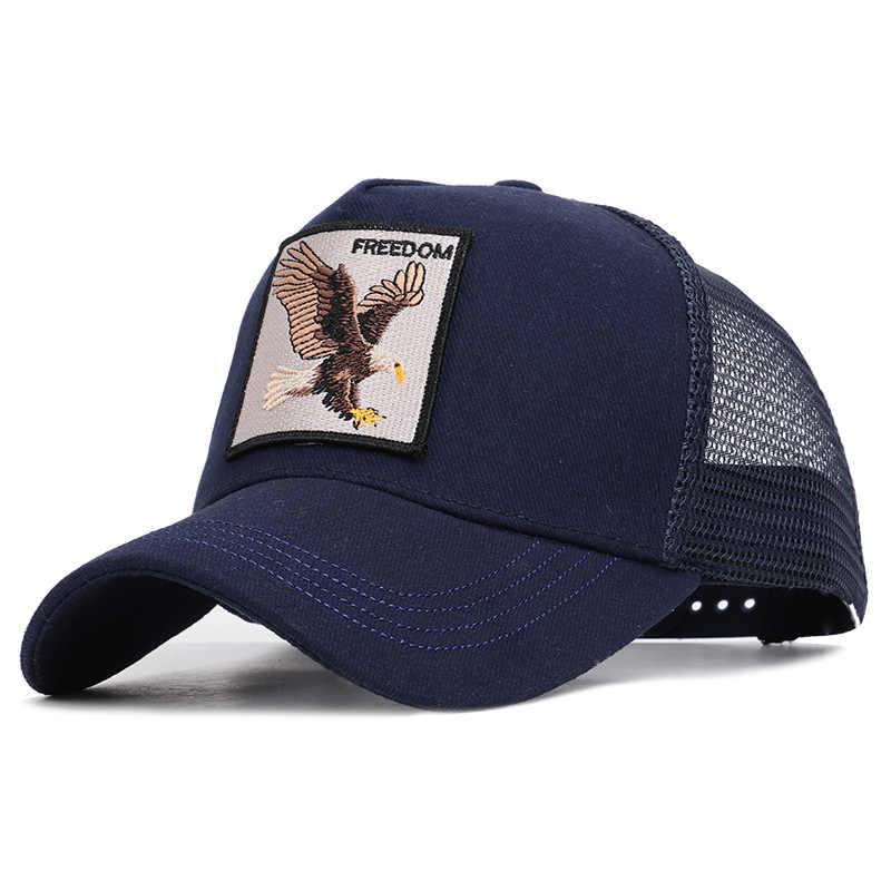 Unisex ฝ้าย Snapback หมวกสำหรับชายเย็บปักถักร้อยหมาป่าเบสบอลหมวกผู้หญิง Breathable ตาข่าย Trucker กระดูก Rooster Hip Hop หมวก