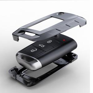 Image 3 - Yeni alaşım anahtar kapağı kılıfı Volkswagen VW TIGUAN Golf Skoda Octavia için araba kılıflı anahtar koruma aksesuarları