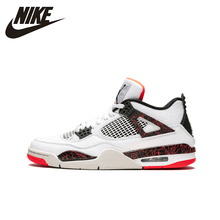 Air Jordan 4 AJ4 Nike Man Basketball Shoes Outdoor Shock-absorbing Non-slip Sneakers New Arrival- 308497 nike air jordan 4 original men basketball shoes non slippery wear resisting air cushion outdoor sports sneakers 308497