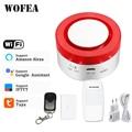 Tuya Smart WiFi домашняя система охранной сигнализации 433 МГц Беспроводная Стробоскопическая сирена Совместимость W Alexa Google Home IFTTT smartlife APP