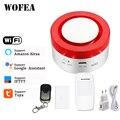 Tuya Smart WiFi Home Security Alarm System 433MHz Wireless Strobe Sirene Alarm Kompatibel W Alexa Google Home IFTTT smartlife APP-in Alarm-Sirene aus Sicherheit und Schutz bei
