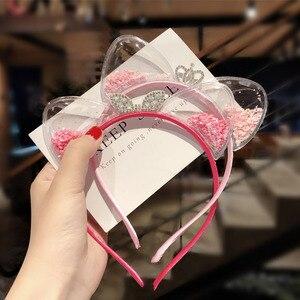 Милая повязка на голову с кошачьими ушками для маленьких девочек, детские корейские аксессуары для волос принцессы, рождественский подарок