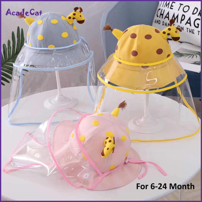 이동식 투명 투명한 커버와 안티 침을 보호 모자 아이들을위한 방진 태양 모자 소년 소녀 어부 낚시 모자