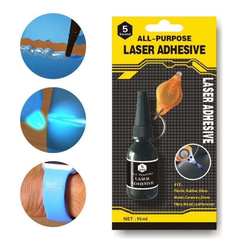 Home Mini Tool Repair Universal Adhesive Liquid Glue With Laser Welding UV Light Aluminium Alloy Glass Plastic Wood Marble Glue