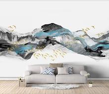 Xue su индивидуальные большие обои роспись АСУКА Новый китайский