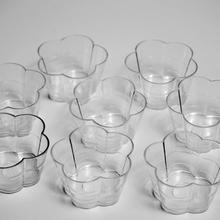100 Pcs Clear Big Christmas  Flower Candle Holders With  Candle Wick For DIY Candle Making цена и фото
