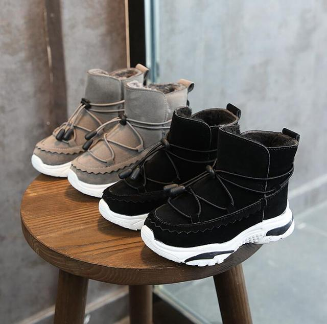 Boys Boots Winter Kids Snow Boots Sport Children Shoes For Boys Sneakers Fashion 2019 New Leather Child Shoes