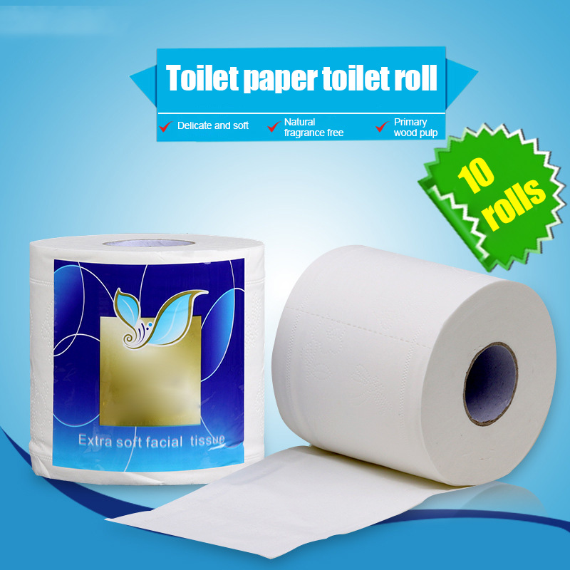 10 Rolls Toilet Paper Household 4 Layers Tissue Soft Skin-Friendly For Bathroom New NYZ Shop