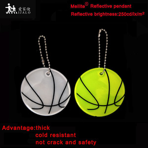 MEILITE 250 candle lights Reflective basketball fashion pendant charm bag accessories key ings For traffic safety use