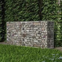 Garden Gabion Basket Galvanised Wire Steel Retaining Wall Rustproof Weather-resistant High Load Capacity Rock for Garden