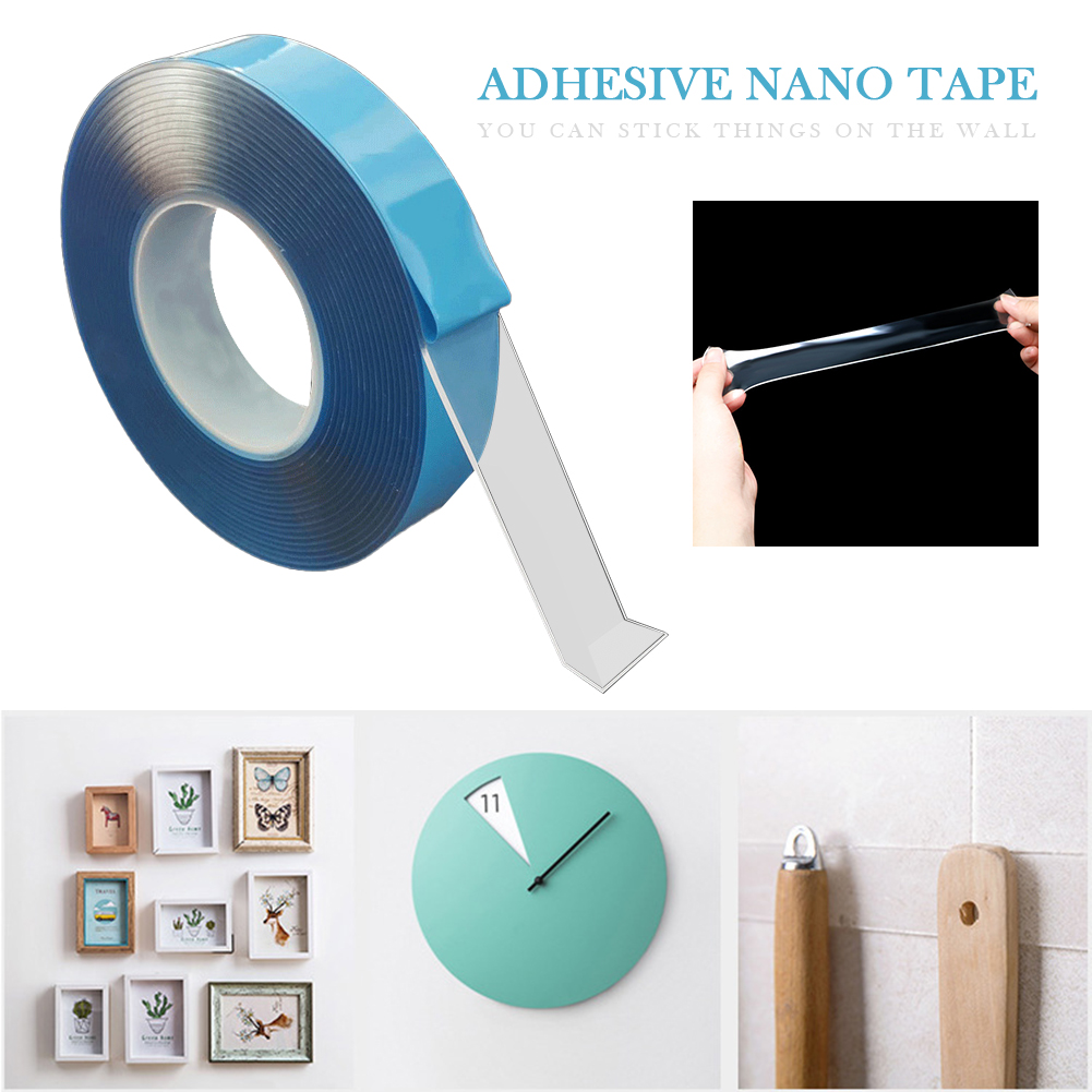 Reinforced Adhesive Nano-tape Washable Reused Transparent Double-sided Tape Traceless Adhesive Tape Wall Stickers Without Traces