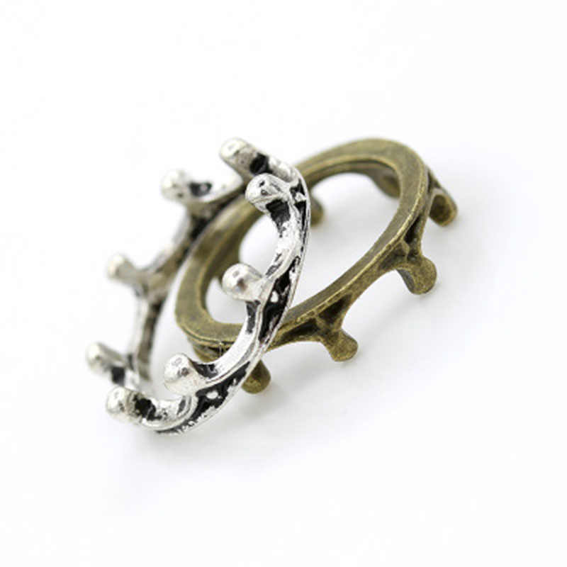 2019 แฟชั่นบุคลิกภาพแหวนแหวนน่ารัก Crown หญิงงานแต่งงานแหวนเครื่องประดับของขวัญขายส่ง WD534