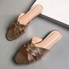 Bailehou 2020 Fashion Brand Women Beach Slippers Sandals Casual Outdoor Open Toe Flat Heel Slides Slip On Flip Flop