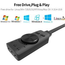 2021 New GS3 Virtual 7.1 Channel Sound Card Adapter USB Audio 3.5mm Headset for Notebook