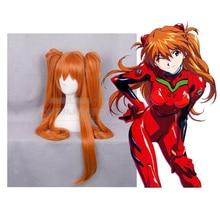цена на Anime Eva Neon Genesis Evangelion Cosplay Asuka Langley Soryu Wigs Orange Ponytail Women Girl Asuka Langley Costume Wig