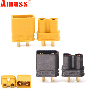 10pcs Amass XT30U Male Female Bullet Connector Plug the Upgrade XT30 For RC FPV Lipo Battery RC Quadcopter (5 Pair) 10 20pcs xt60 xt30 t plug male female bullet connectors plug 5 10 pair for rc quadcopter fpv racing drone lipo battery