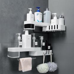 Wc Opslag Hoek Douche Planken Wall Mounted Hollow Carving Rotary Rack Duurzaam Badkamer Thuis Opslag Accessoires