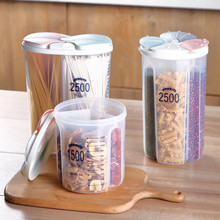 Kitchen Transparent Food Storage Container Space Saver Sealing Pot Cereal Grain Bean Rice Sealed Plastic Home Storage Boxes Bins cheap VVavEors CN(Origin) Modern
