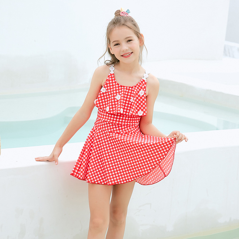 Manufacturers Direct Selling 2019 New Style One-piece Swimsuit For Children Fashion Cute Digital Cartoon Printed Children Swimwe
