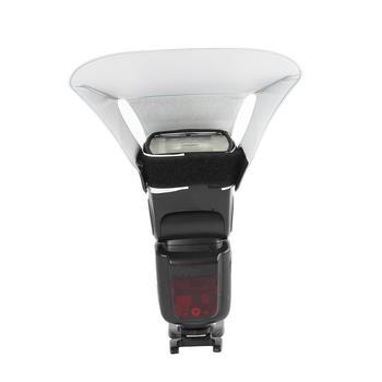 Lampą błyskową światłowód zwiększyć obszar świetlny Flash Softbox zdjęcie miękkie światło efekt dobry reflektor do fotografii tanie i dobre opinie Nieregularny kształt CN (pochodzenie) 55 g Flash Diffuser 22 1x20 5x0 5cm