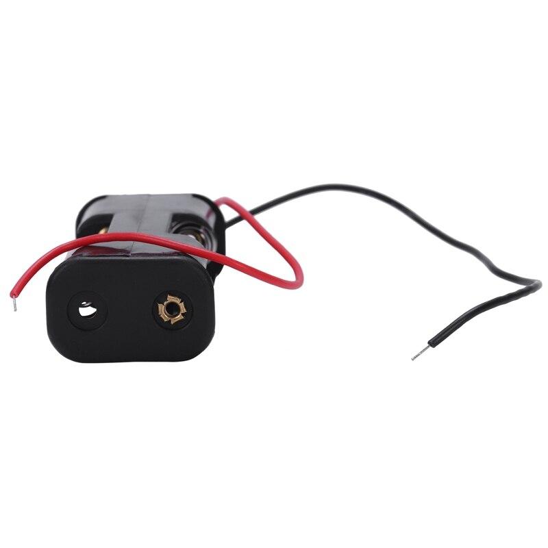 Купить с кэшбэком 2Pcs Double Side Opening Frame 2 x 1.5V AA Battery Case Holder Black
