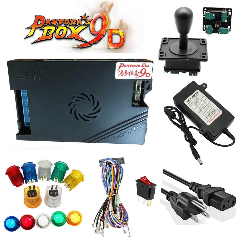 3D Original Pandora boîte 9D 2500 jeux bricolage Arcade Kit bouton poussoir Joystick pour Arcade Machine paquet maison armoire Machine 2 joueur