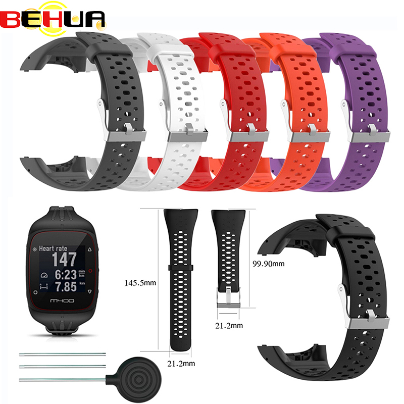 Silicone Wristband Strap For Polar M400 M430 GPS Sports Smart Watch Replacement Watchband Bracelet With Tool Watch Strap Band