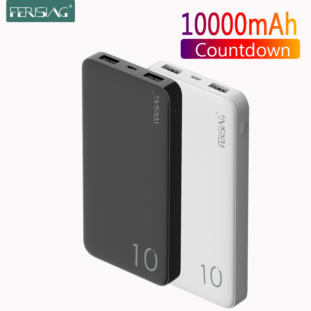 FERISING <font><b>Power</b></font> <font><b>Bank</b></font> 10000mAh PowerBank <font><b>10000</b></font> mAh USB Charger Portable External Battery Mobile Phone Charging For Xiaomi <font><b>Mi</b></font> 10 9 image