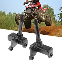 цена на 2 Pcs M14 Steering Knuckle Assembly Left Right For 110cc 150cc 200cc 250cc ATV Quad Bike Go Kart Etc 10mm Bottom Hole Diameter