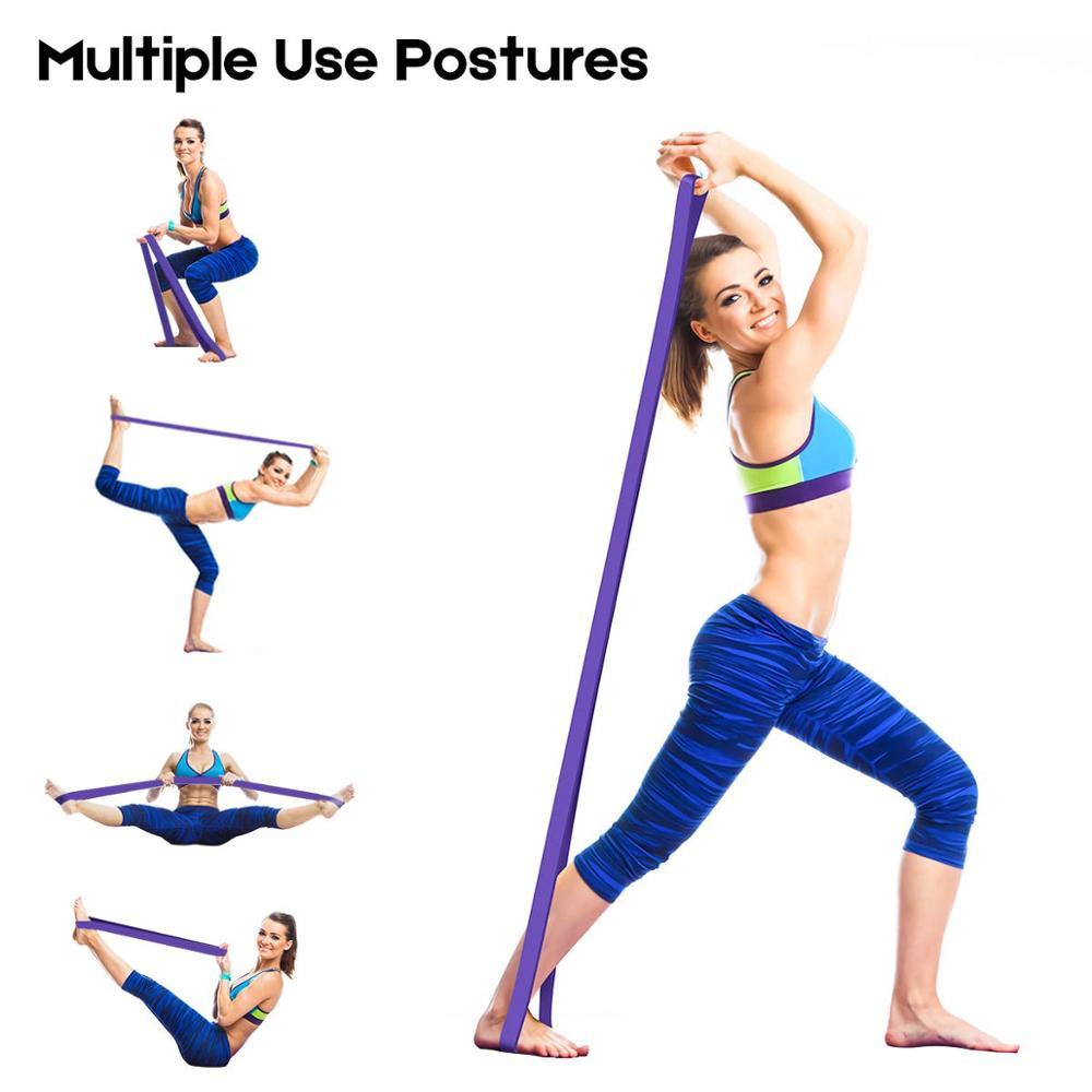 Эластичная Эспандер для упражнений, эластичная лента для фитнеса, пилатеса, домашних тренировок, 208 см-5