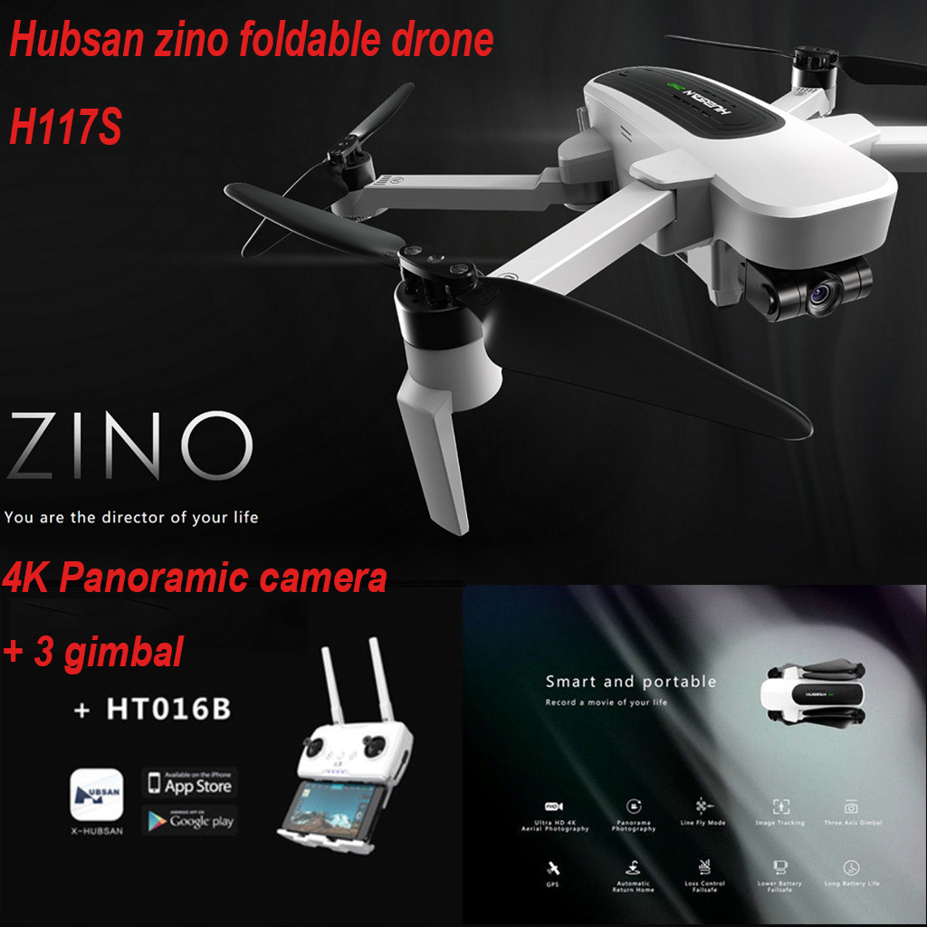 New Year Gifts Cool Toys For Children Boy Toy Hubsan Zino H117S Quadcopter Drone 4K Camera GPS WIFI FPV Waypoint 3 Axis Gimbal