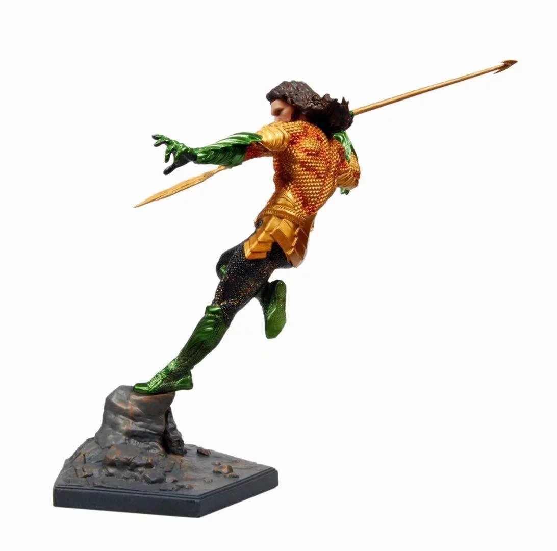 Aquaman 25 centímetros Anime figura Justice League lutando ver estátua action figure collectible modelo brinquedos para meninos