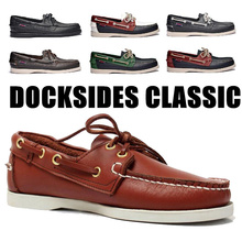Shoe Flats-Loafers Driving-Shoes Docksides Genuine-Leather Classic Design Men Brand Boat