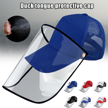 Anti-spitting Protective Baseball Cap with Dustproof Transparent Cover Outdoor Face Cover Caps B2Cshop