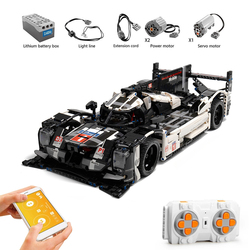 1586PCS RC/Non-RC Endurance Car Remote Control Vehicle Super Racing Sports Racer Building Blocks Bricks Kids Toys Gifts