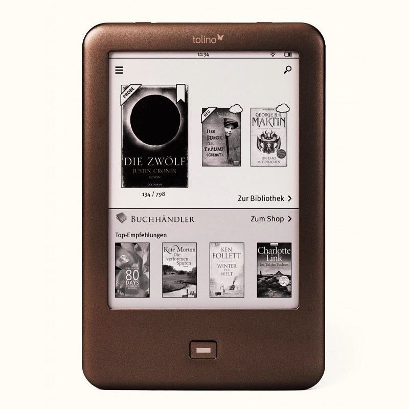 Built in Light e Book Reader WiFi ebook Tolino Shine e ink 6 inch Touch Screen 1024x758 electronic Book Reader