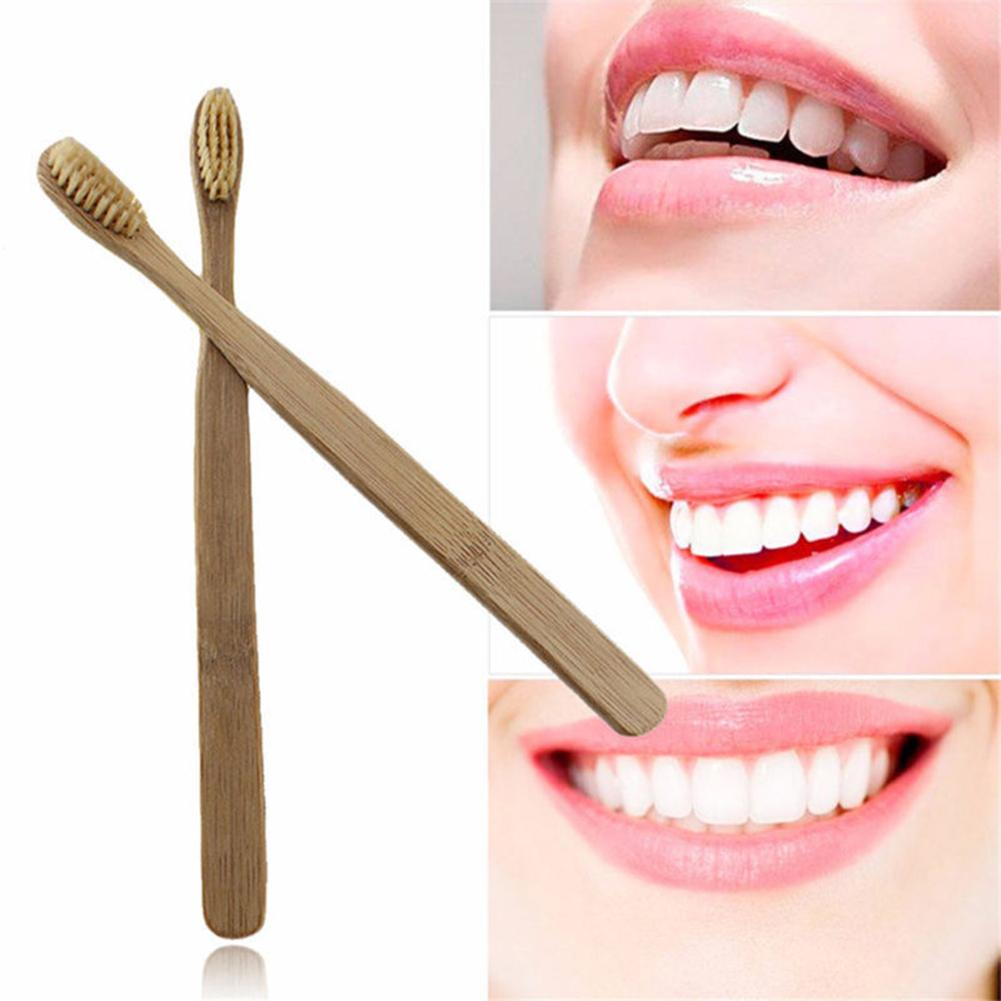 Environmental Toothbrush Natural Bamboo Oral Care Teeth Brush Soft Bristle Adult Manual Toothbrush image