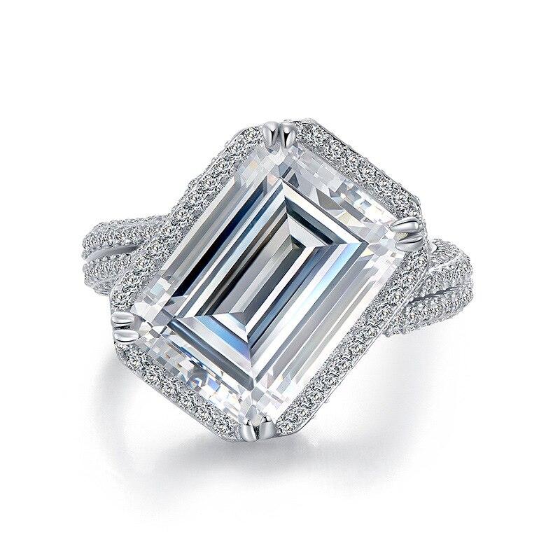 Женские Классические обручальные кольца LESF из 100% стерлингового серебра 925 пробы, ювелирные украшения, подарок, оптовая продажа
