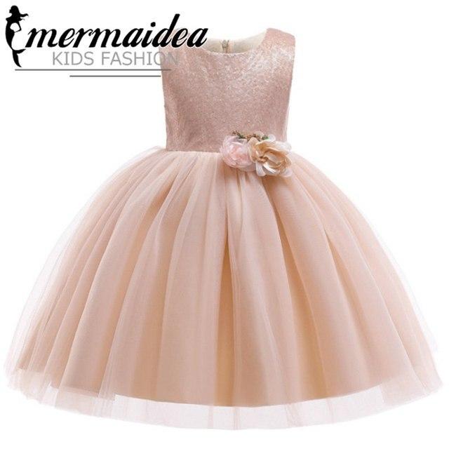 Bébé fille fleur robe de princesse pour la
